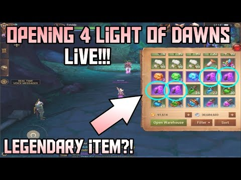 Opening 4 Light of Dawns LIVE! LEGENDARY ITEM!!! Crusaders of Light