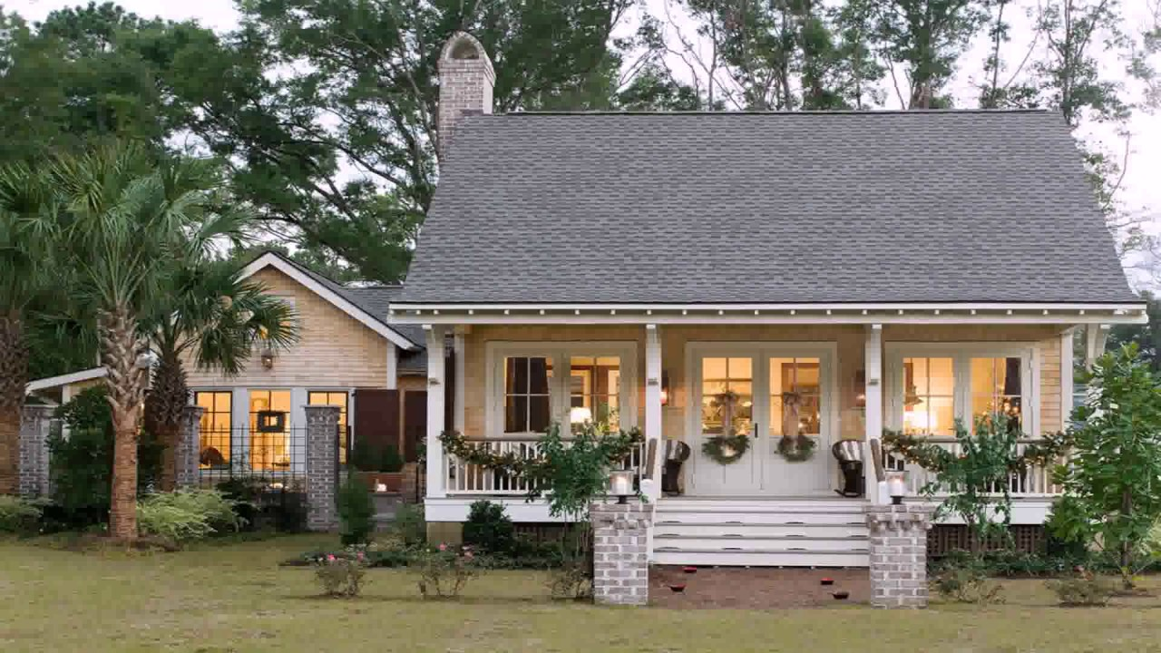 Small Acadian Style House Plans - YouTube