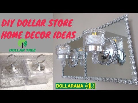 DOLLAR STORE DIY IDEAS, DIY BLING GLAM WALL SCONCE, DIY WALL DECOR, DIY STORAGE ORGANIZER