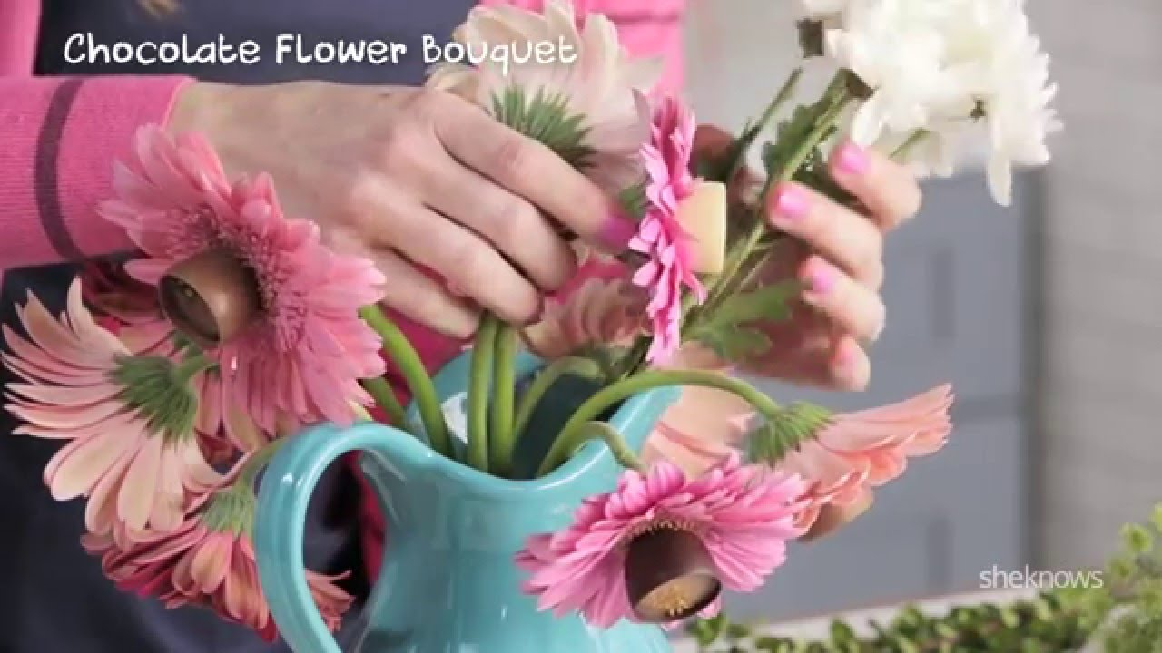 Making A Chocolate Flower Bouquet With Godiva And Sheknows Youtube
