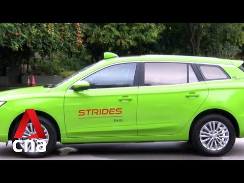 SMRT's Strides Taxi to have 300 electric cabs on the road by end-2021