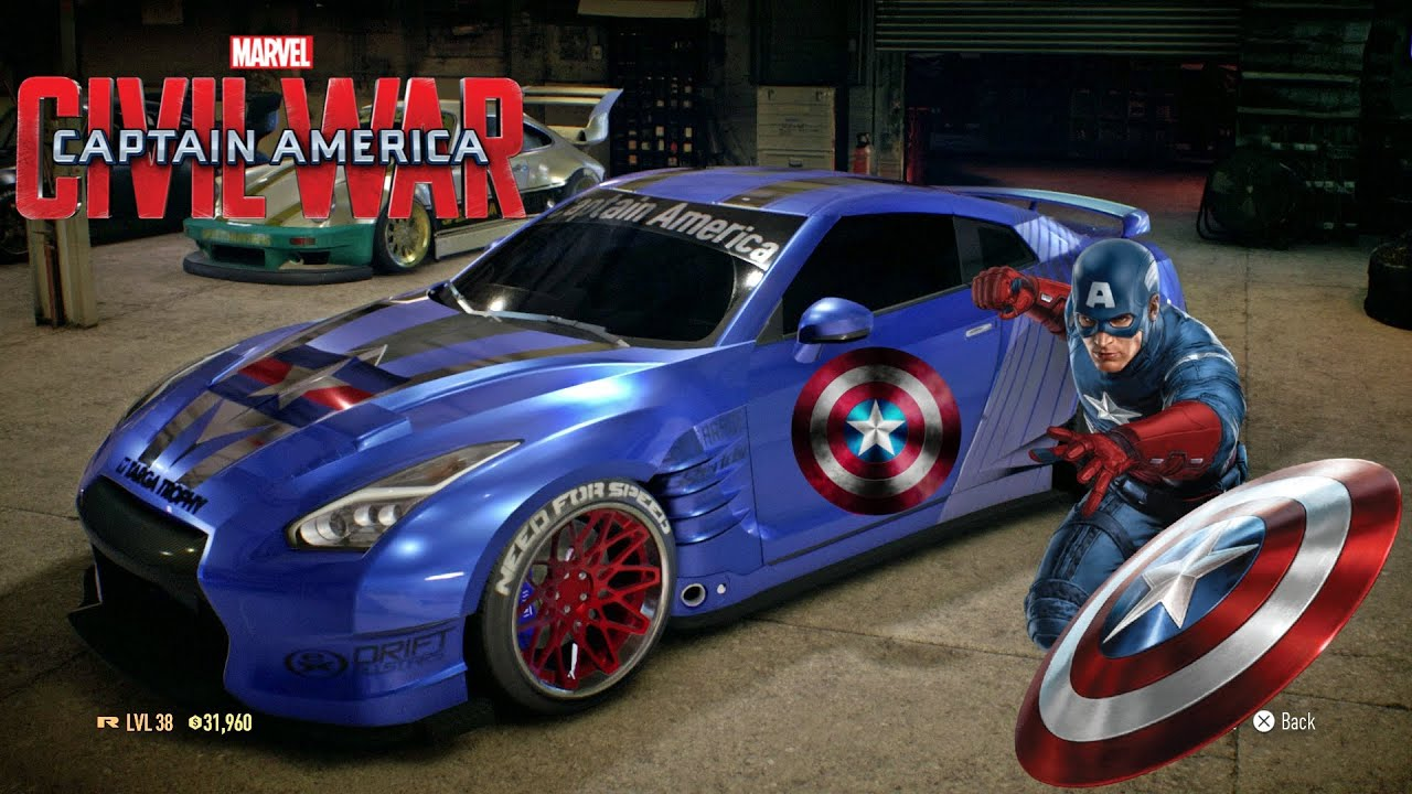 gtr best car to customization captain america paint job youtube. Black Bedroom Furniture Sets. Home Design Ideas