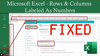 microsoft Excel Rows and Columns Labeled As Numbers  Excel 2016 Tutorial