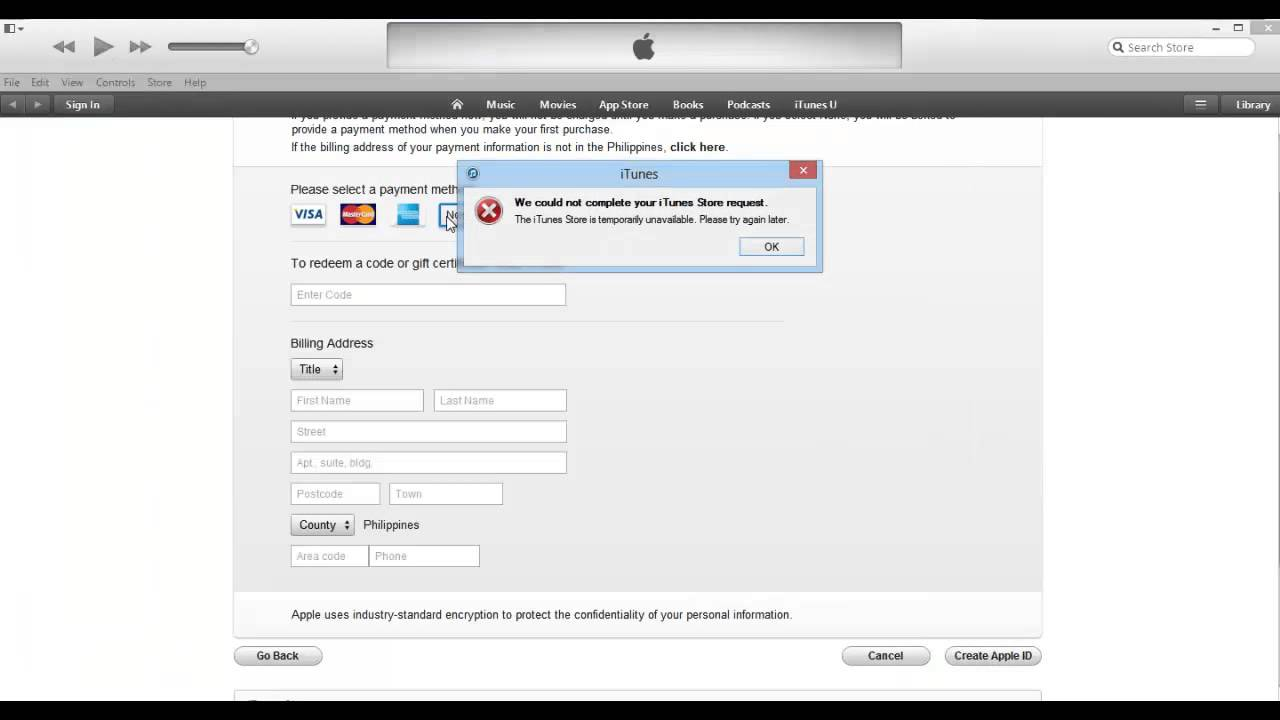 How To Create Apple Account Or Apple ID Without Credit Card YouTube - Us zip code for apple id