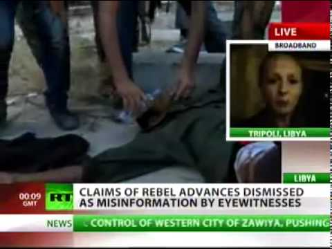 Lizzie Phelan: Media are Twisting the Truth on Rebels advances on Tripoli (August 21, 2011)