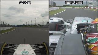Gran Turismo Sport vs Real Life - Suzuka Onboard Lap Comparison (F1 W08 EQ Power+)