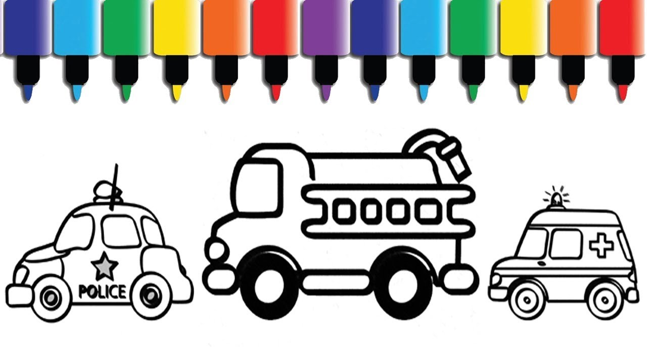 Emergency Services Colouring Sheets. Animated coloring pages - YouTube