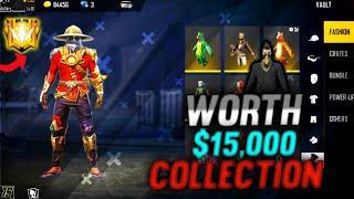 15000 $+ WORLD POOR COLLECTION FREE FIRE