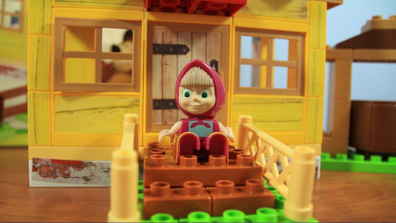 Masza i Niedźwiedź – Zbuduj Domek Mashy PlayBig Bloxx! / Build Masha`s House! – PlayBig Bloxx