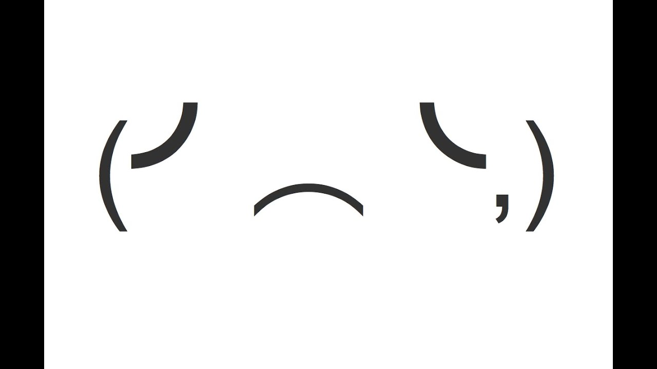 Sad And Crying Emoticon Face Copy And Paste Text Art Youtube