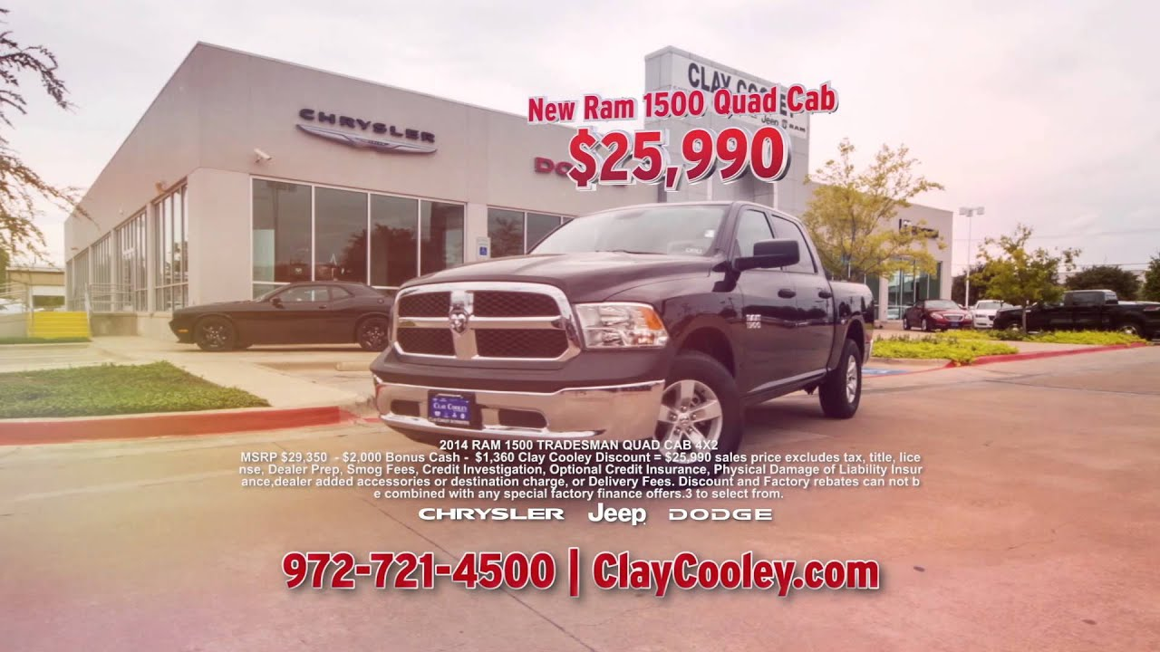 April Savings At Clay Cooley CJD