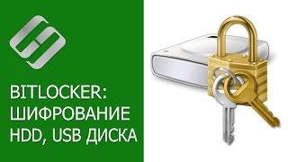 как зашифровать диск Bitlocker -  ключ восстановления, разблокировка паролем