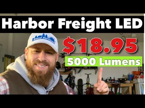 Harbor freight LED shop lights 5000 Lumens