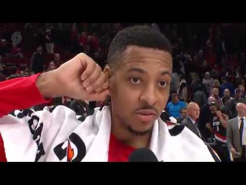 CJ McCollum Courtside Interview | Portland Trail Blazers vs. Sacramento Kings | November 18, 2017