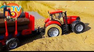 BRUDER TRAKTOR CASE Stuck in the mud!  RC Toys Mudding!