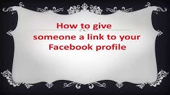 How to give someone a link to your Facebook profile
