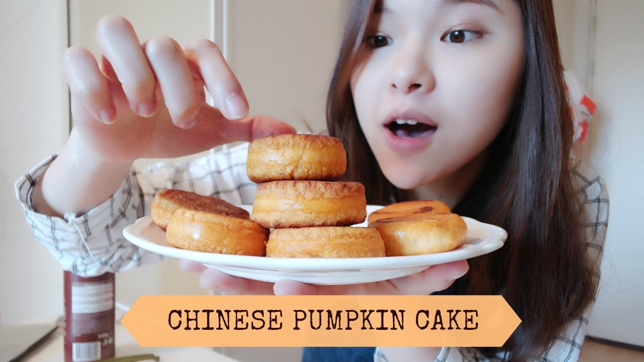 Cooking With Mimi Chinese Pumpkin Cake Vegan Not Easy But Delicious Youtube
