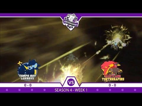 ELECTRIFYING START!!!   Week 1 Tampa Bay Luxrays vs Maryland Torterrapins   NPA Season 4