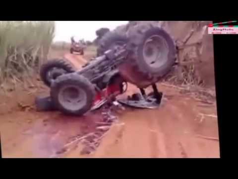 おもしろ動画集   おもしろ   最高のトラクターは失敗します。素晴らしいトラクターは、バイラル動画2016、#zingholicスタント