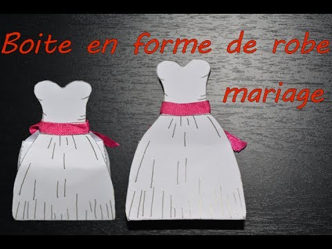 diy boite a dragees en forme de robe mariage bapteme. Black Bedroom Furniture Sets. Home Design Ideas