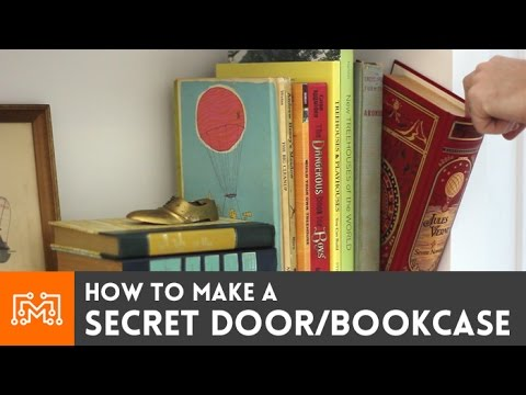 How To Make A Secret Door Bookcase Youtube
