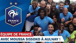 Avec Moussa Sissoko à Aulnay-sous-Bois, Equipe de France I FFF 2019