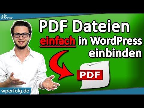 ▷ SOFORT PDF Dateien In WordPress Einbinden [2020]: 3 Simple Wege - Tutorial (Deutsch)