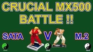 Crucial MX500 500GB Sata Versus M.2