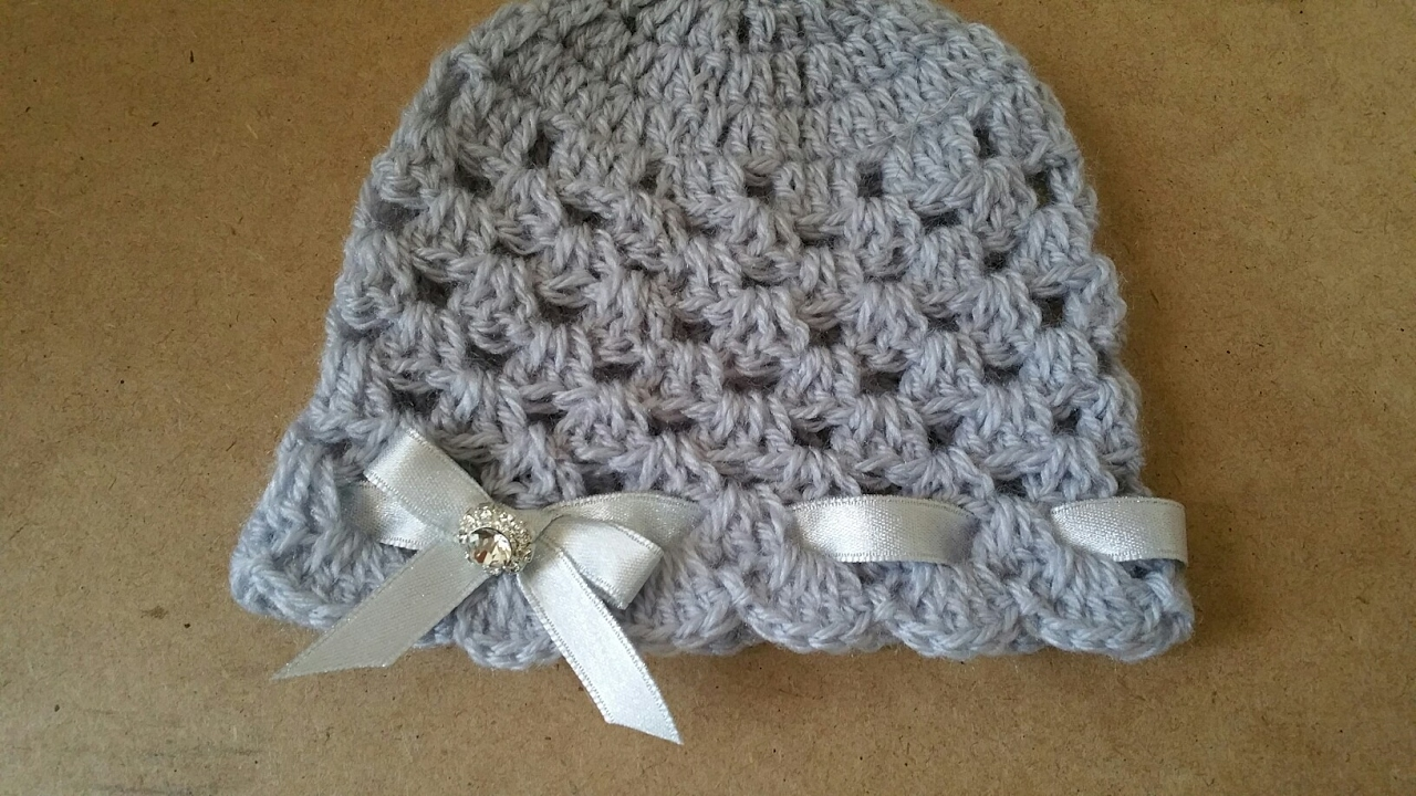 Cappello Neonata Uncinetto Crochet Hat Youtube