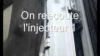 Claquement moteur et identification de l'injecteur defectueux
