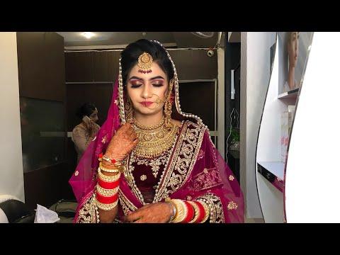 Beautiful bridal makeup at R&R salon fatehabad (Haryana)