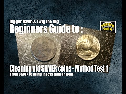 Beginners guide to metal detecting - Cleaning OLD SILVER coins method 1 (5)