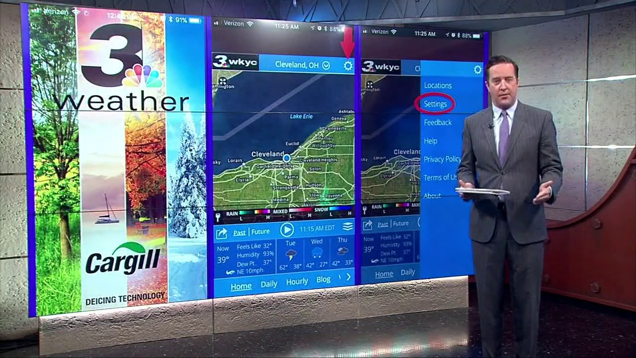 Here's how you can sign up for alerts from the WKYC Weather App
