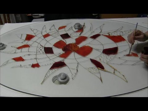 Sunny Morning - Stained Glass Table by Anastasia Tversky