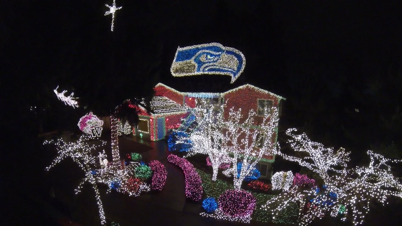 Christmas Lights From Above - YouTube