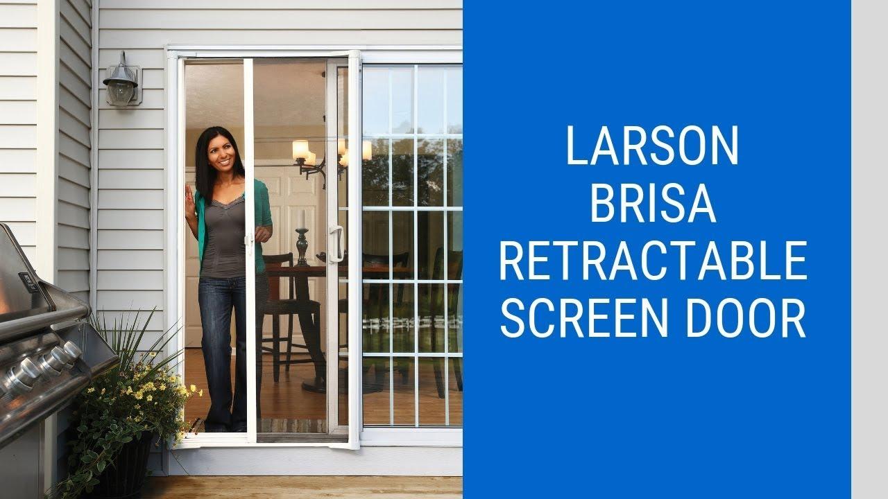Larson Brisa Retractable Screen Door Youtube