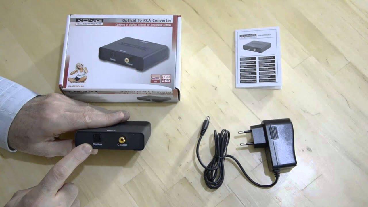 Convertir un signal audio num rique spdif optique ou - Comment rallonger un cable tv ...