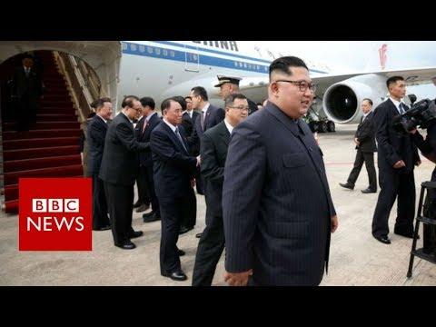 Trump Kim summit: North Korean leader arrives in Singapore - BBC News