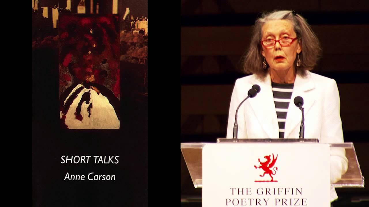 Anne Carson reading 2014