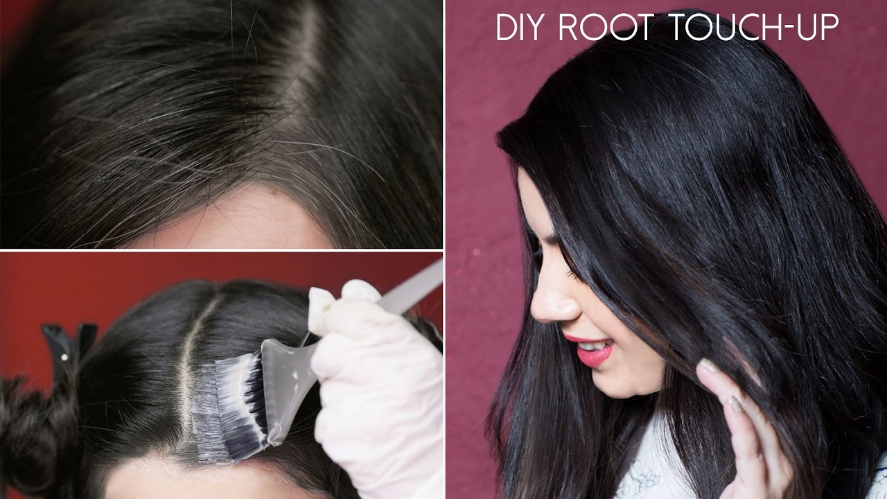 How To Do A Root Touch-Up At Home - Quick and Easy Tutorial  583f6dc520