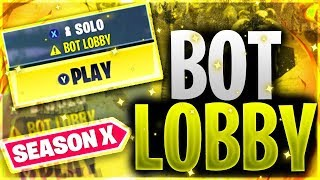 Cómo entrar en *BOT LOBBIES* en Fortnite Temporada 10 Fortnite Small Lobbies Glitch Temporada 10📉