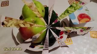 Легкий салат из огурцов с яблоком.