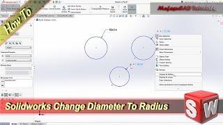 Solidworks Smart Dimension Diameter Instead of Radius