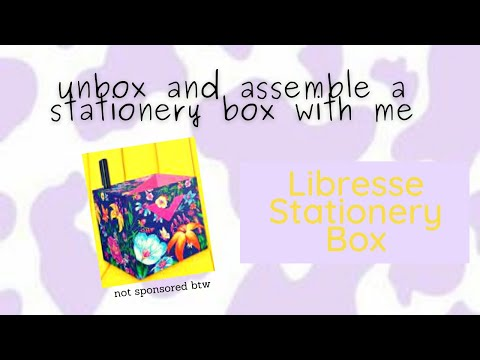 Unbox and assemble a Libresse Stationer-V Box with me || Free gift from Libresse || 🎁✨ ||