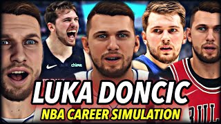 LUKA DONCIC'S NBA CAREER SIMULATION | GREATEST EURO PLAYER EVER? TEAMING UP WITH GIANNIS? | NBA 2K20