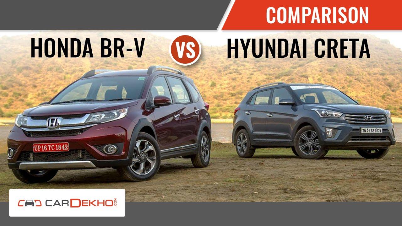 Honda Br V Vs Hyundai Creta Detailed Comparison Review Youtube