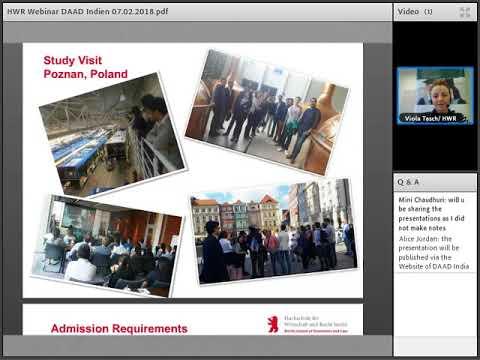 Webinar Series 2018- Study in Germany (Berlin School of Economics and Law)