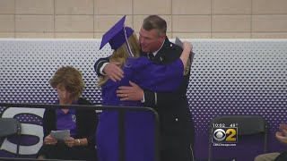 Dixon High Graduation Cermony Honors Officer Who Protected Students