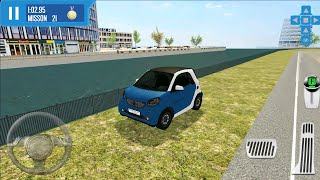 Blue Mini Car Roof Driving Simulator #2 - Xtreme Cab Drive - Android Gameplay