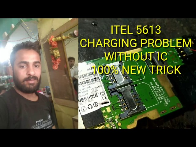 Itel 5613 charging not show problem without ic